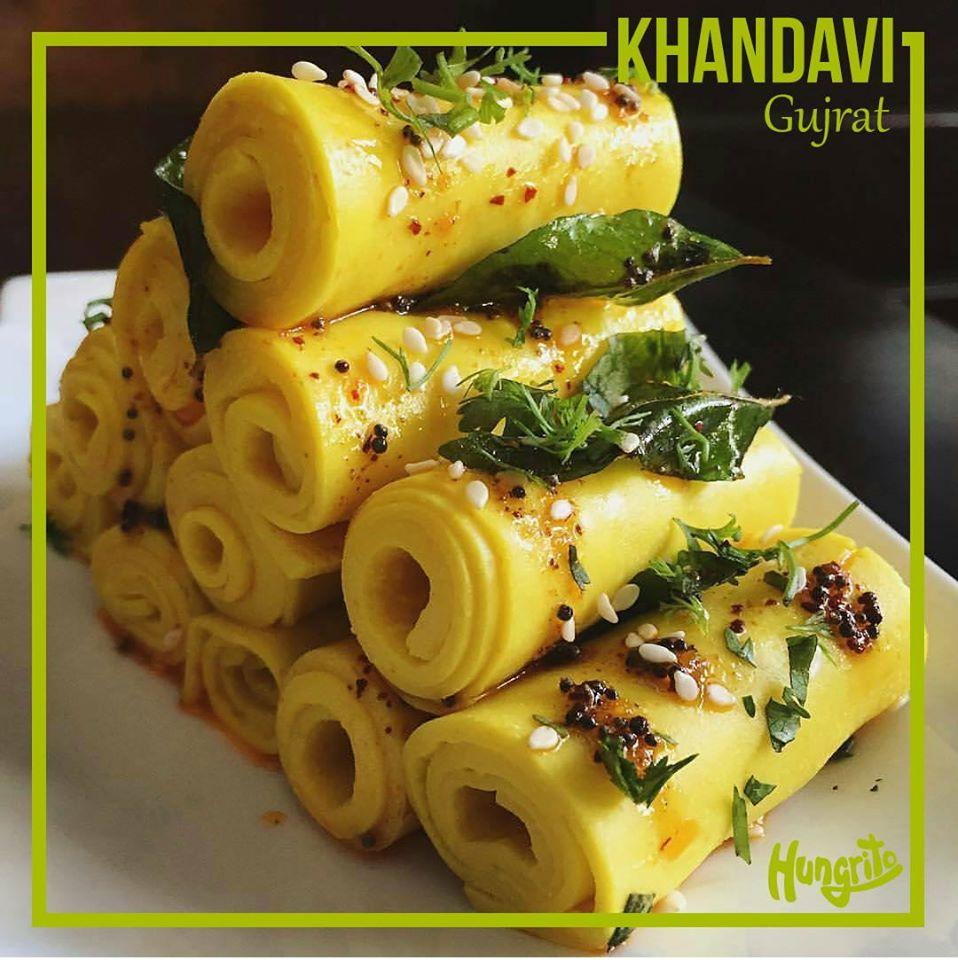 Khandavi from Gujrat dishes